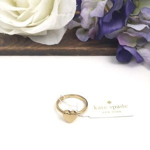 NWT Gold Kate Spade Be Mine Heart Ring Size 8